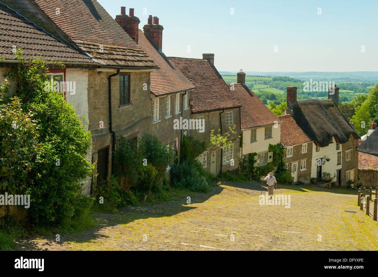 Park Walk at Shaftesbury, Dorset, England - Stock Image
