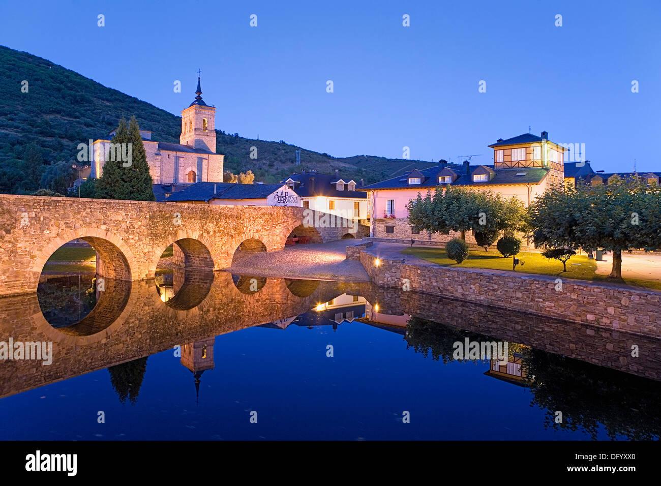 Molinaseca. León province.Spain. Camino de Santiago - Stock Image