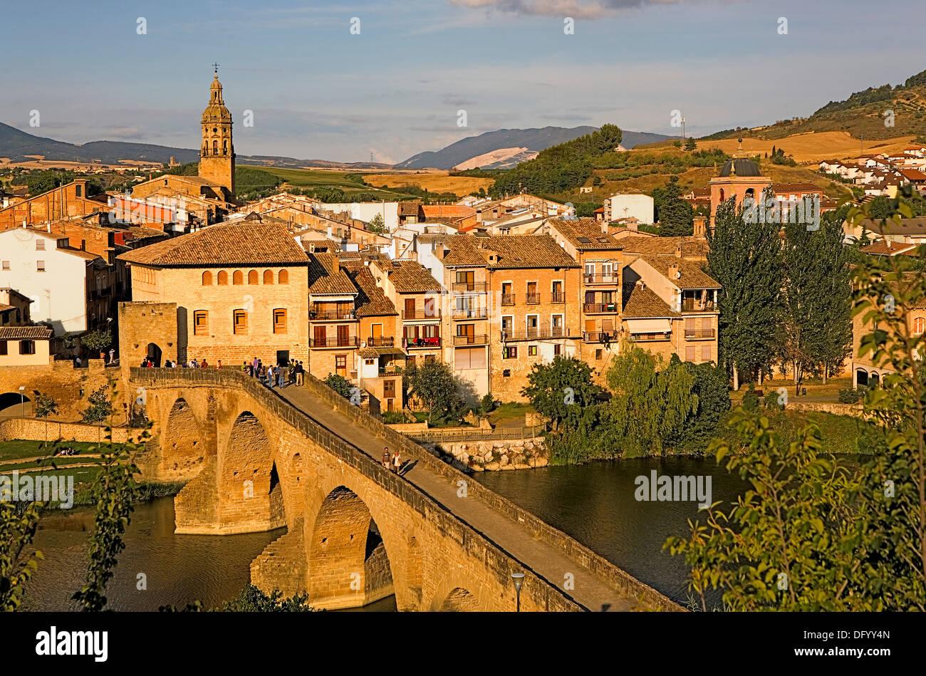 Puente de la Reina. Navarra.Spain. Camino de Santiago - Stock Image