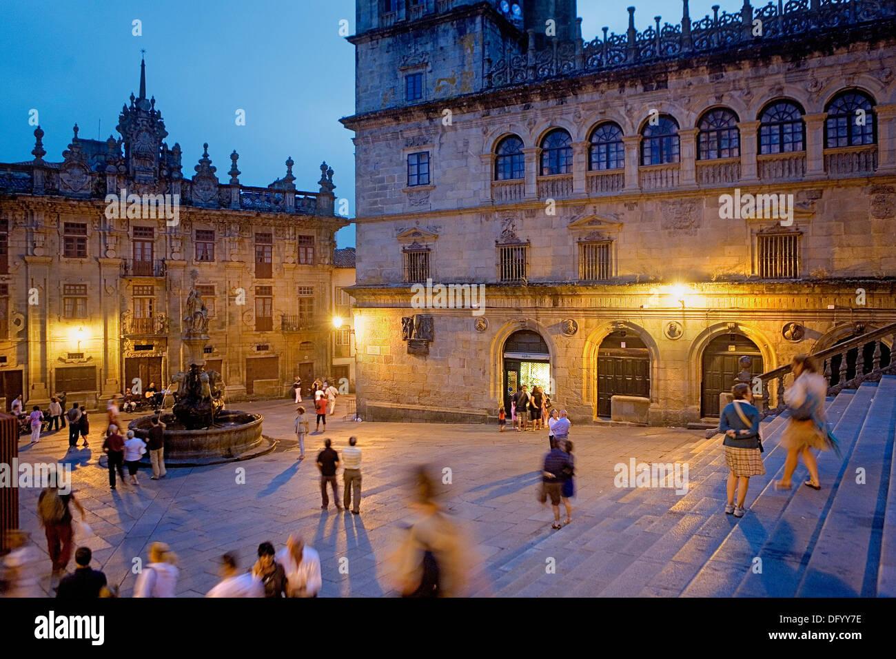 Praza das Praterías. Santiago de Compostela. Coruña province.Spain. Camino de Santiago - Stock Image