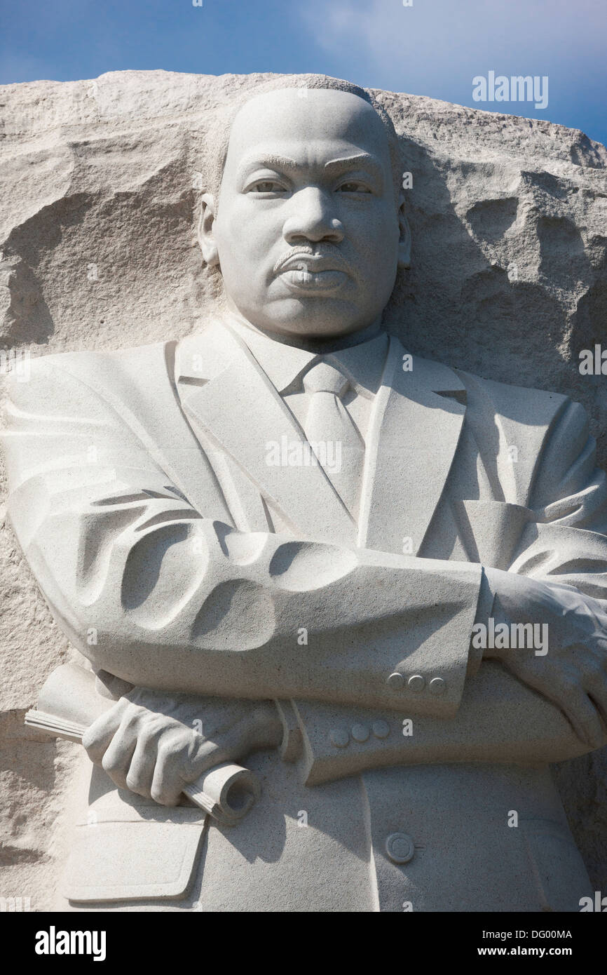 The MLK Martin Luther King, Jr Memorial monument statue in West Potomac Park on the National Mall in Washington, D.C - Stock Image