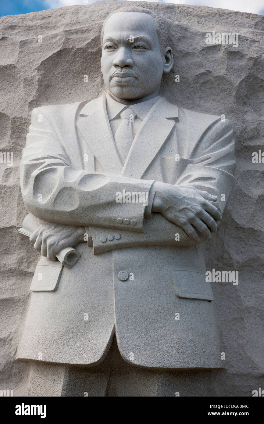 The MLK Martin Luther King, Jr Memorial monument statue in West Potomac Park on the National Mall in Washington, D.C Stock Photo