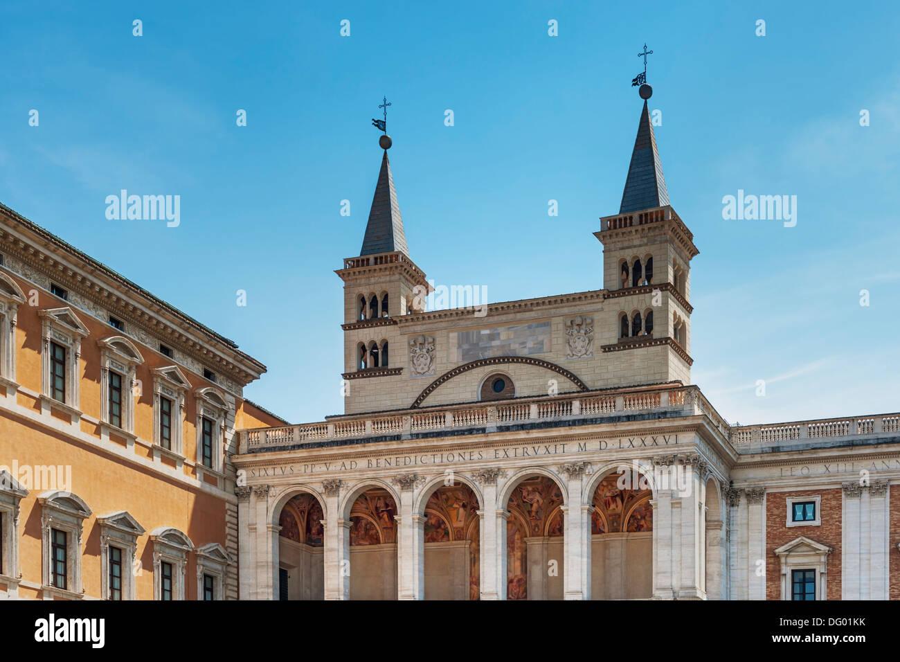 Archbasilica of St. John Lateran (Basilica di San Giovanni in Laterano), side porch, Rome, Lazio, Italy, Europe Stock Photo