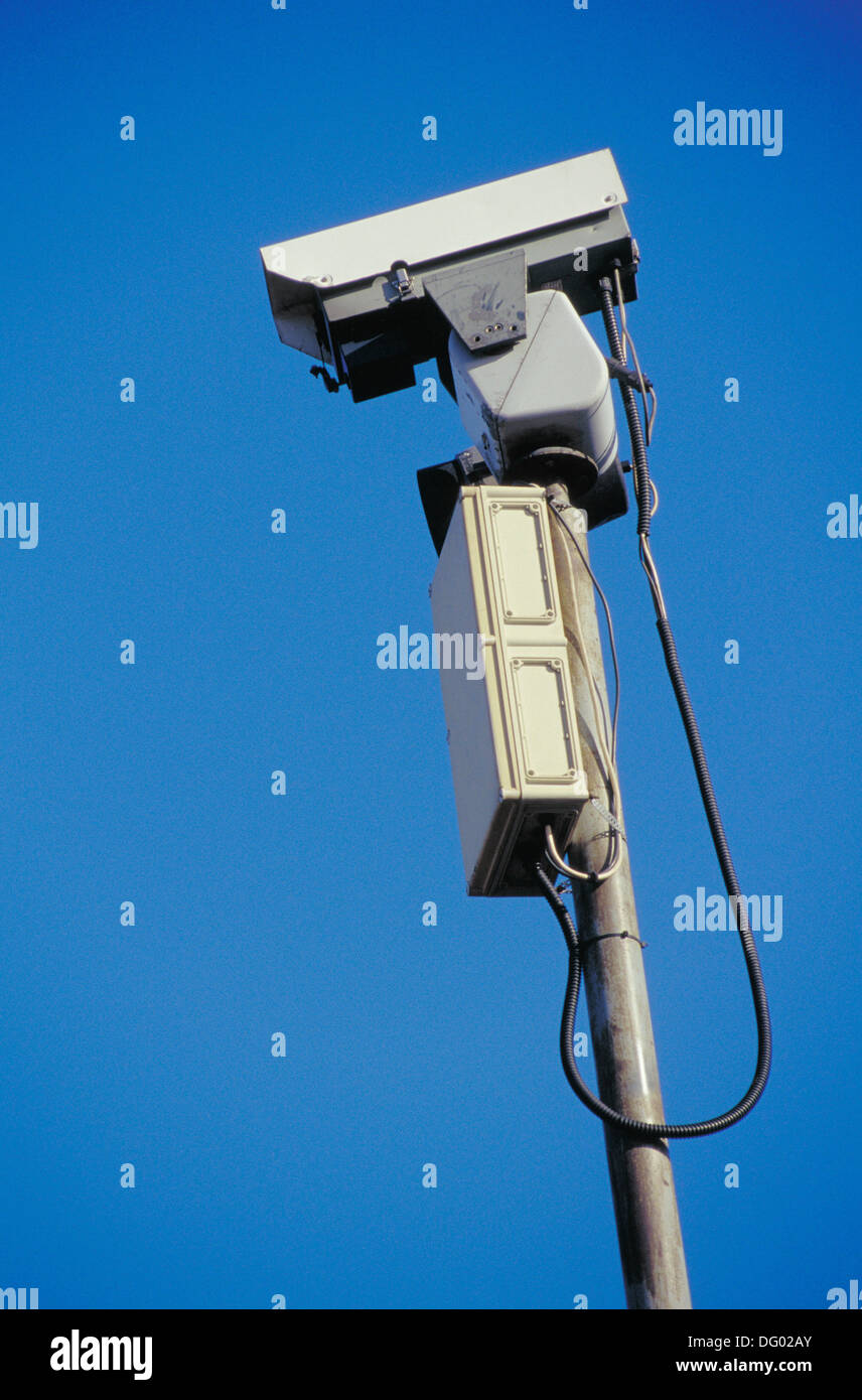 Closed-circuit television camera - Stock Image