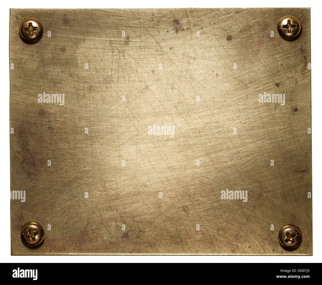 Brass plate texture, old metal background. - Stock Image