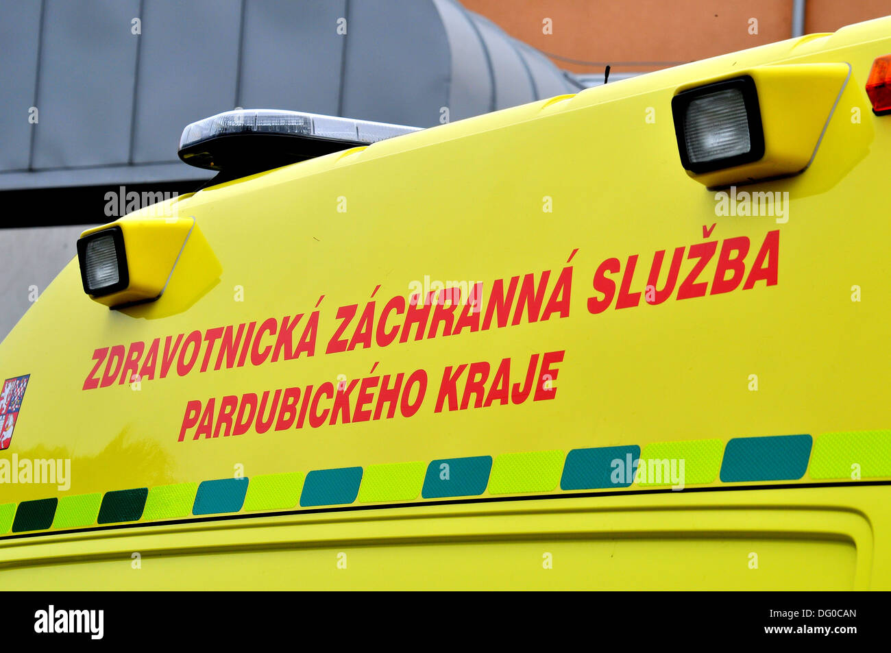 auto, car, vehicle, ambulance, ambulance service, 155, first aid, doctor, ARO - Stock Image