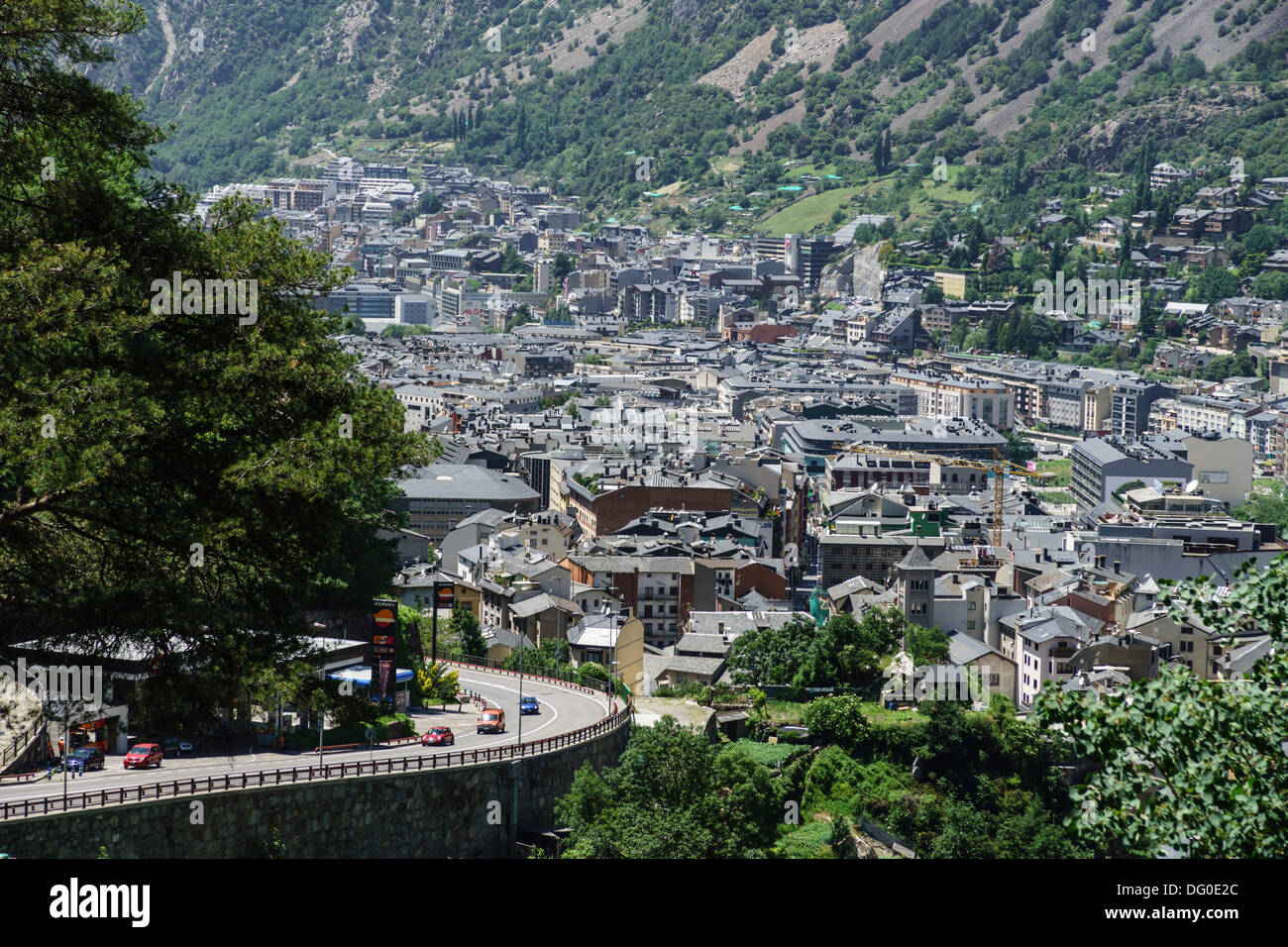 Andorra - capital city Andorra la Vella. Stock Photo