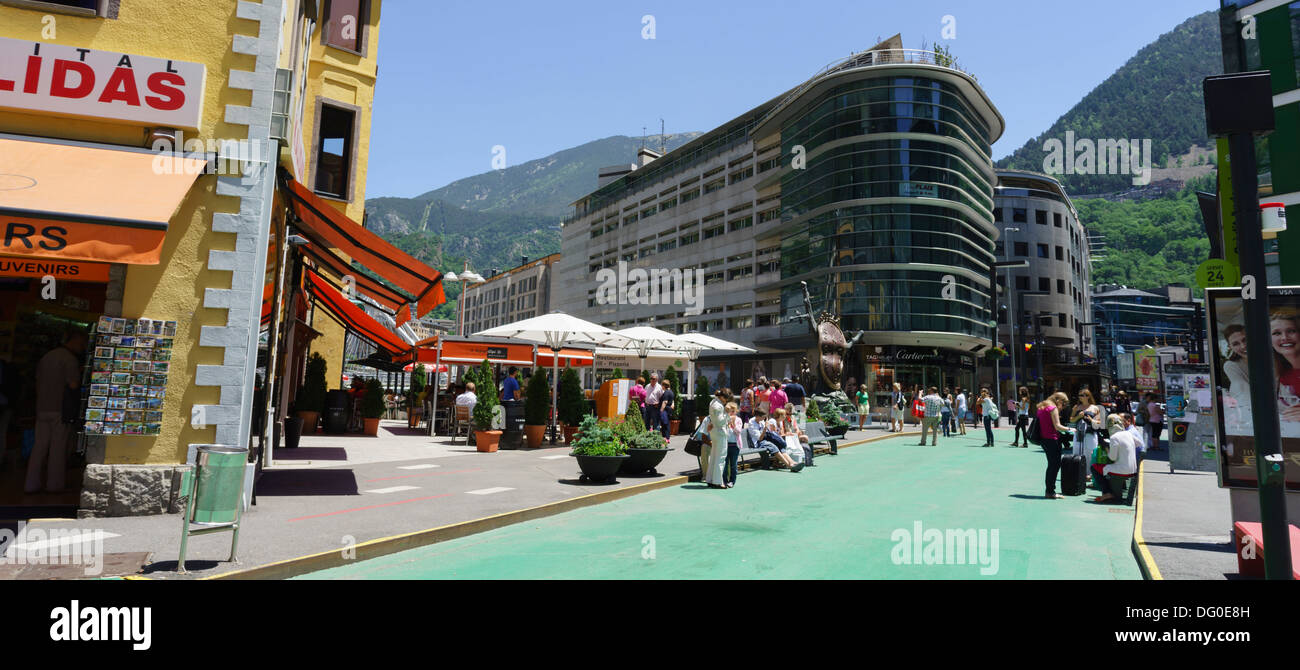 Andorra - capital city Andorra la Vella. - Stock Image
