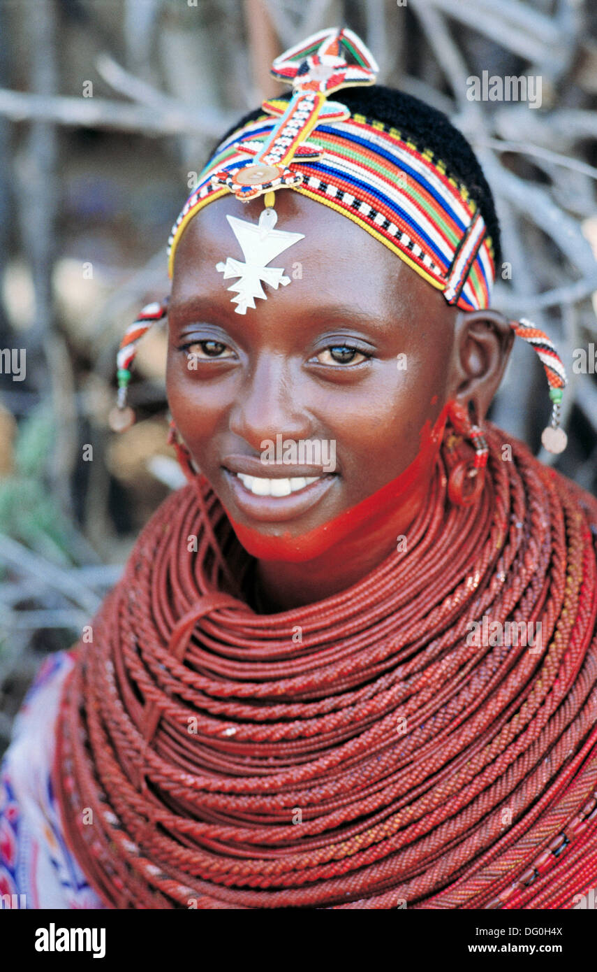 Matrimonio In Kenya : Samburu girl at traditional wedding. kenya stock photo: 61479066 alamy