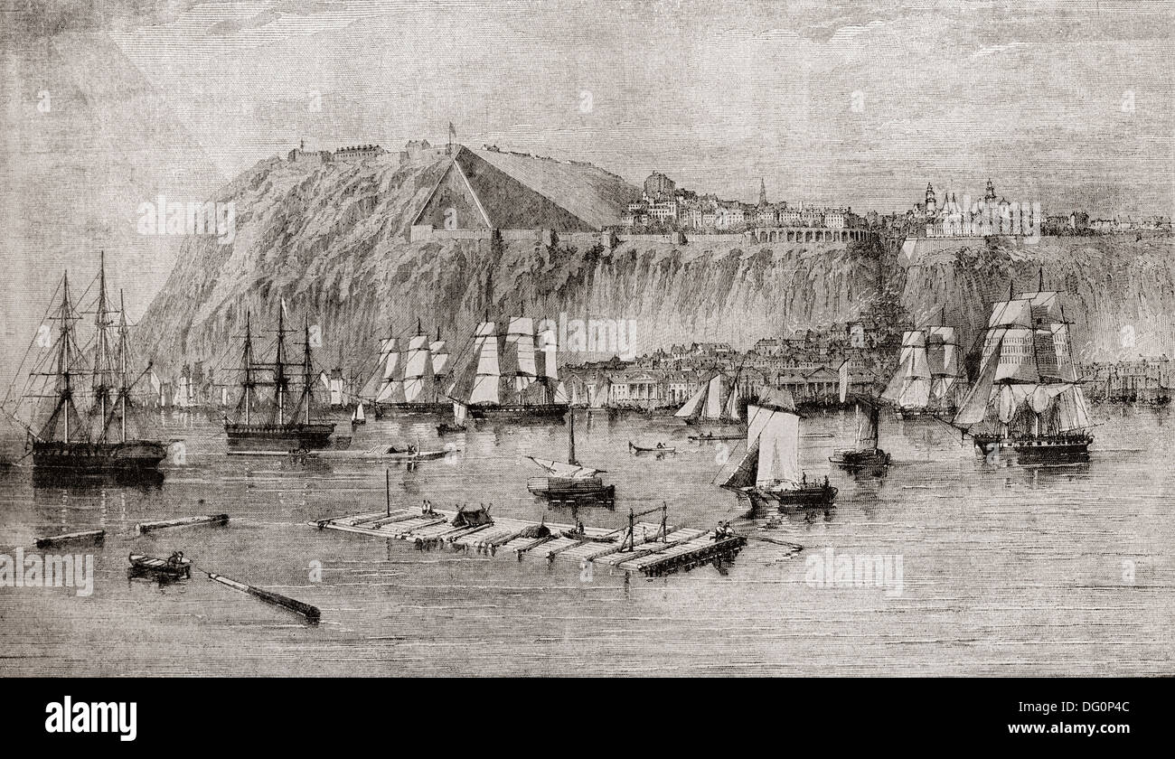 Quebec, Canada in 1860 Stock Photo - Alamy
