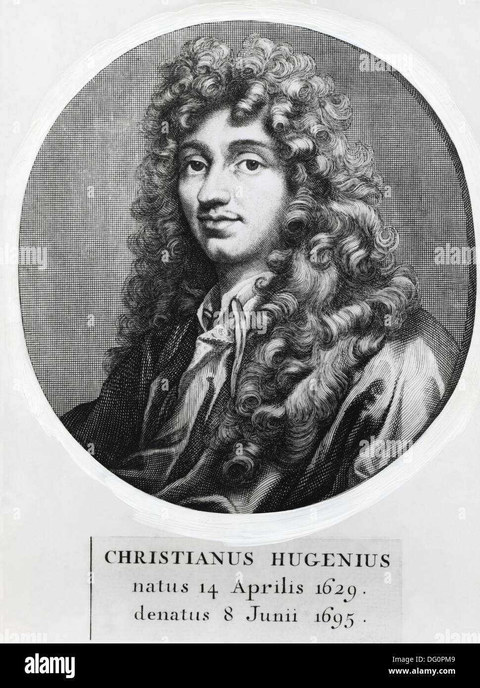 Christiaan Huygens, dutch mathematician, astronomer and physicist (1629-1695) - Stock Image