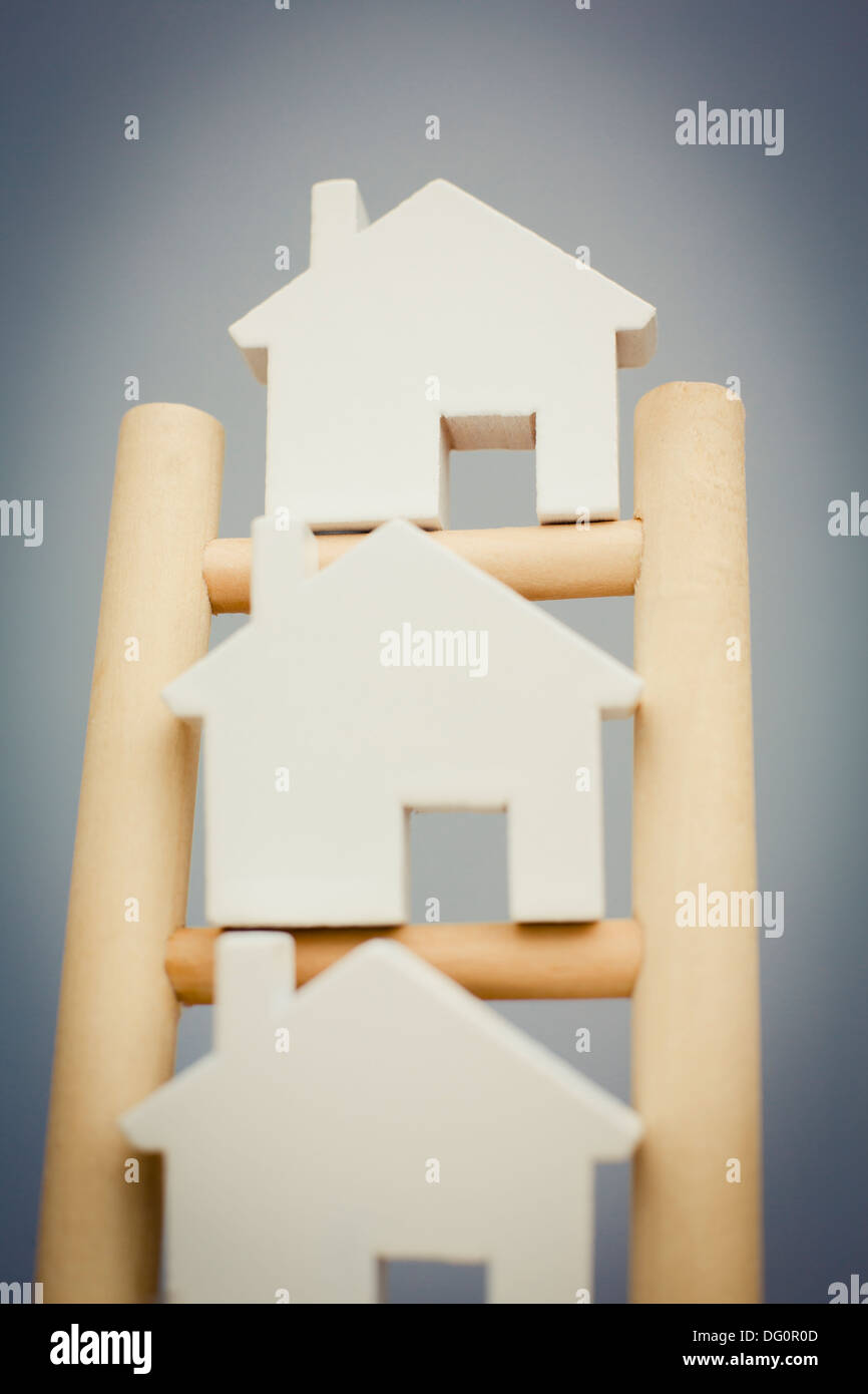 Concept Image To Illustrate Property Ladder Stock Photo
