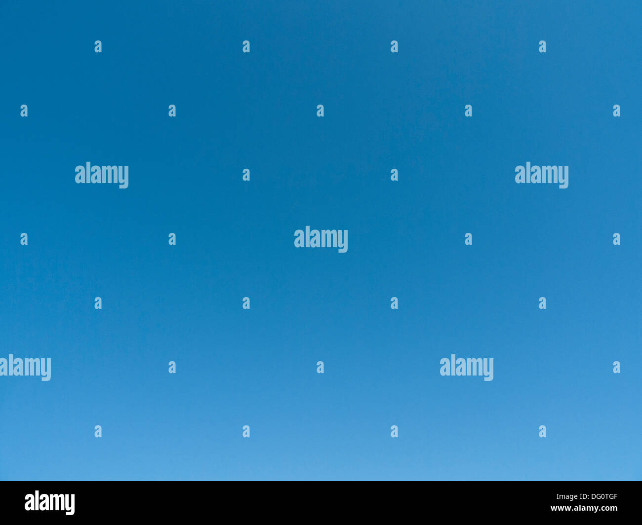 Clear blue afternoon sky with no clouds Carmarthenshire Wales UK  KATHY DEWITT - Stock Image