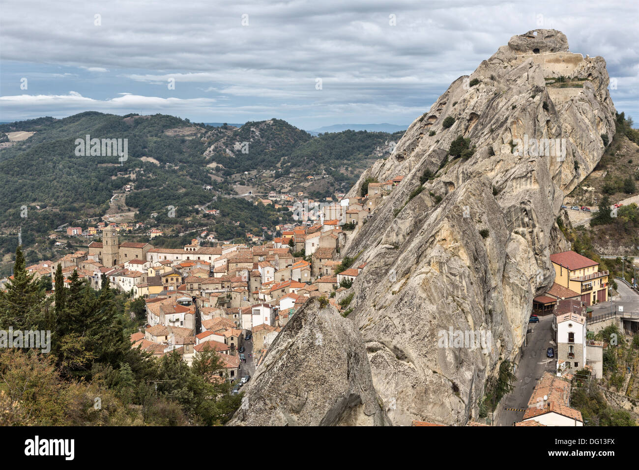 Pietrapertosa, a hill village in the Dolomiti Lucane, Basilicata, Italy Stock Photo