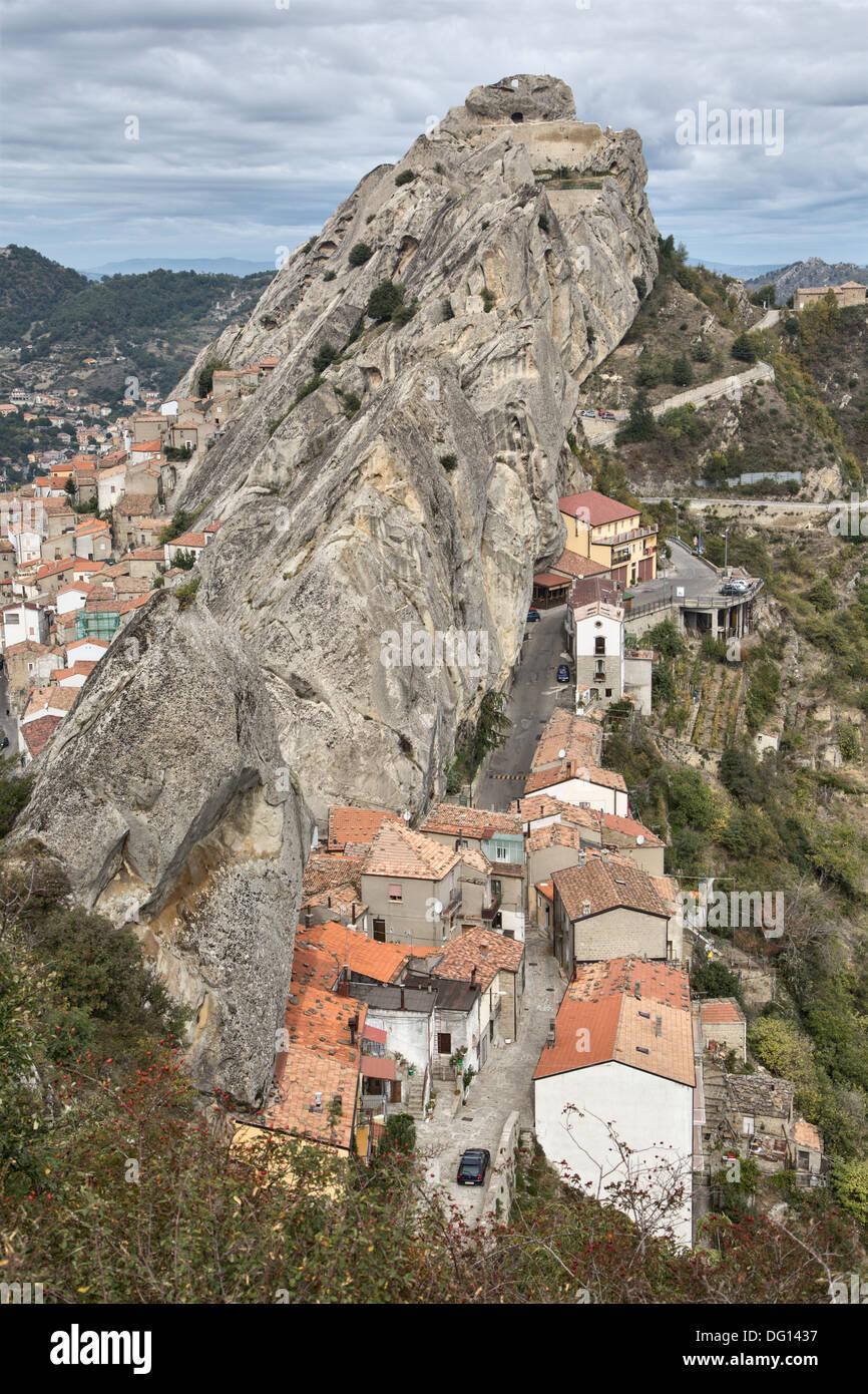 Pietrapertosa, a hill village in the Dolomiti Lucane, Basilicata, Italy Stock Photo