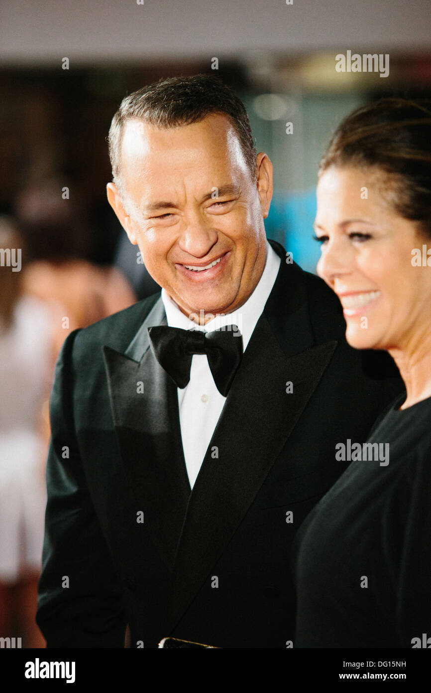 Tom Hanks at Leicester Square film premiere - Stock Image