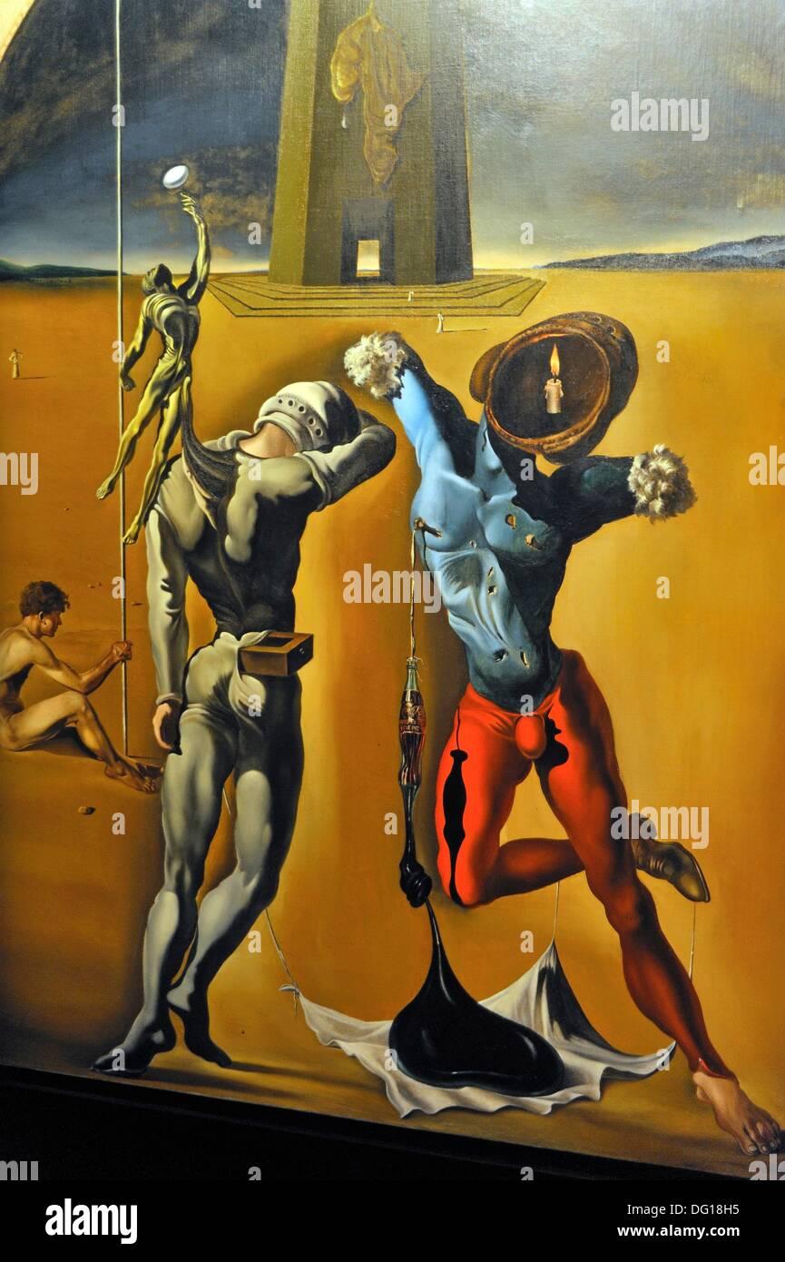 The Cosmic Athletes, Dali Theatre and Museum, Figueres Costa Brava, Catalonia, Spain, Europe - Stock Image