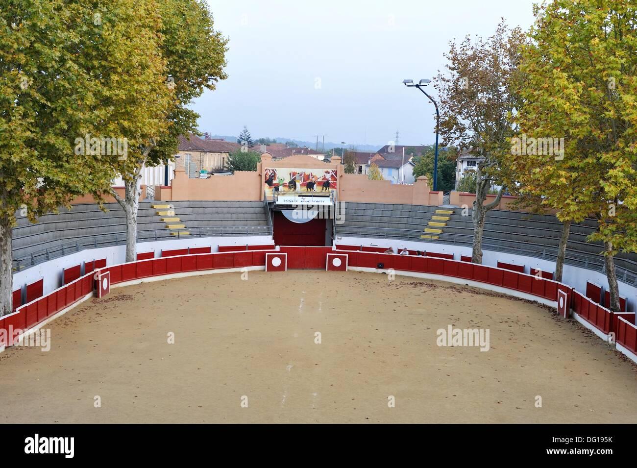 arenas of Nogaro, Gers department, Midi-Pyrenees, southwest of France, Europe Stock Photo