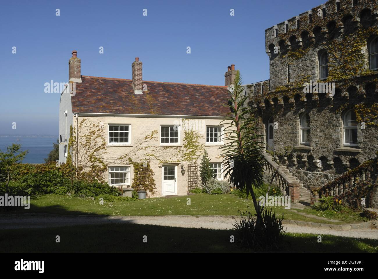 Superior Bailiff´s House, Herm Island, Bailiwick Of Guernsey, British Crown  Dependency, English Channel, Atlantic Ocean, Europe