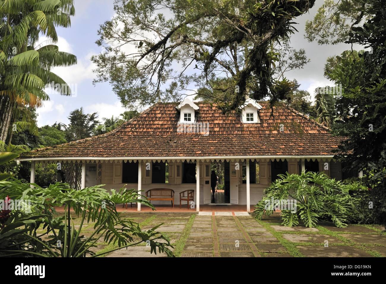 Creole house of Jardin de Balata botanical garden, Martinique ...