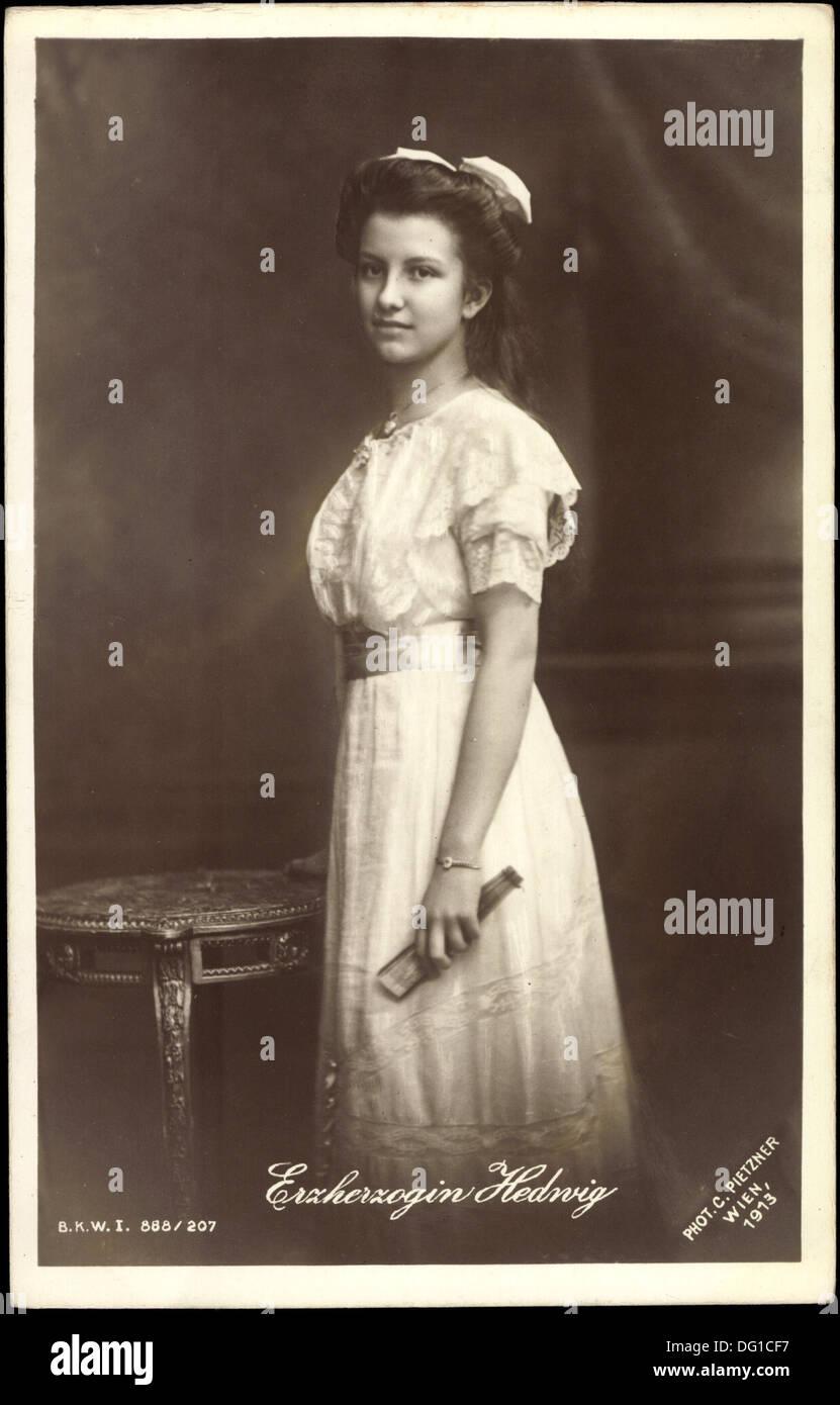 Ak Erzherzogin Hedwig von Österreich, BKWI 888 207; - Stock Image
