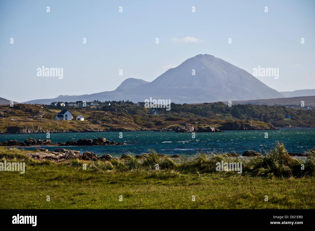 Mount Errigal shot from Carrickfinn Kincasslagh County Donegal Ireland - Stock Image