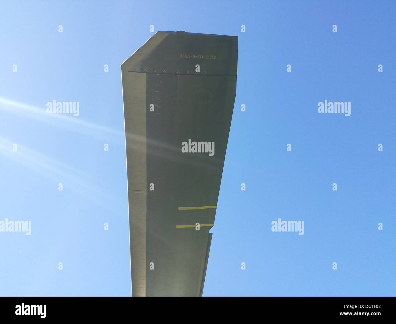 Air Ambulance Helicopter Wing Blade - Stock Image