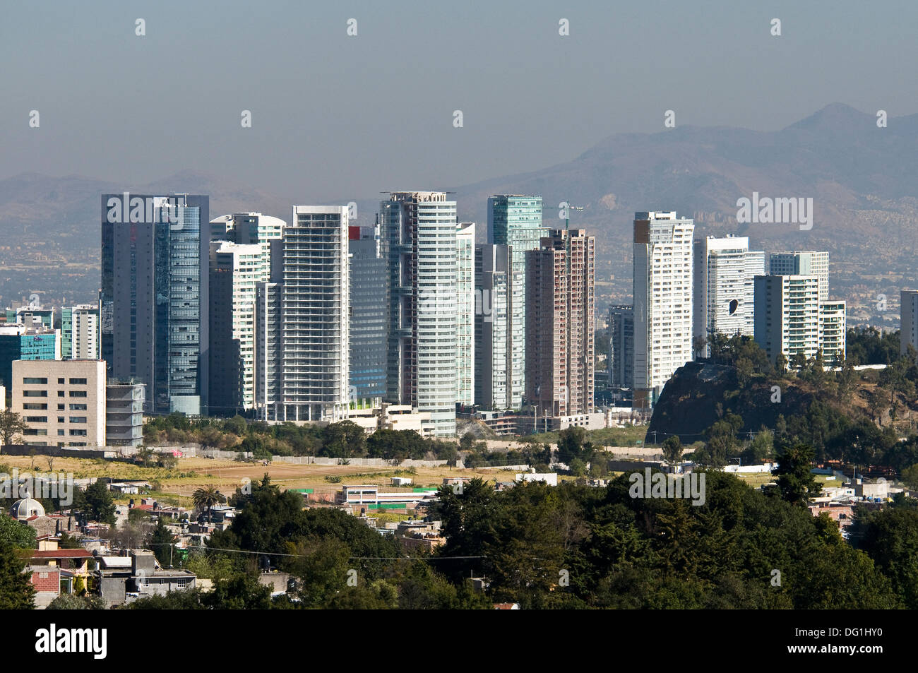 View Of Santa Fe At Mexico City Stock Photo Alamy