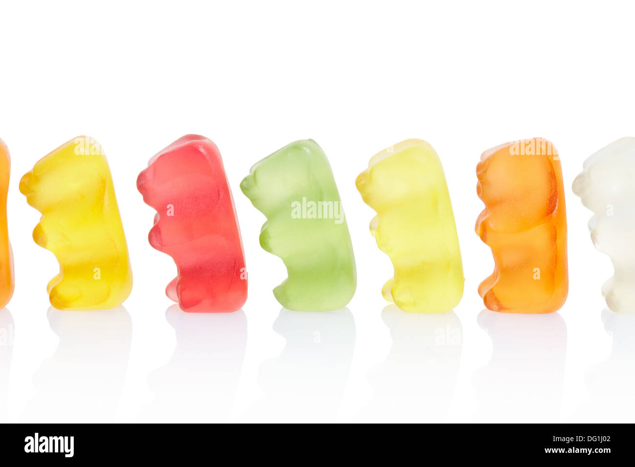 Gummy bears, queue concept - Stock Image