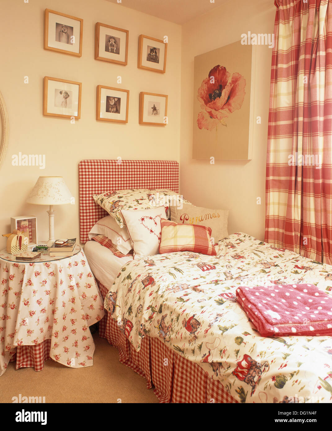 cath kidston cowboy duvet cover and pillow in teenager s bedroom