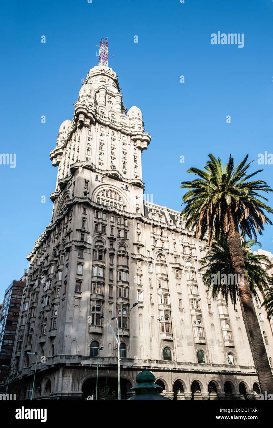 Salvo Palace, Independence Square, Montevideo, Uruguay Stock Photo