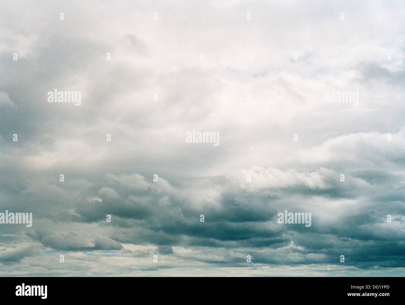 Dramatic Sky with Ominous Gray Clouds - Stock Image