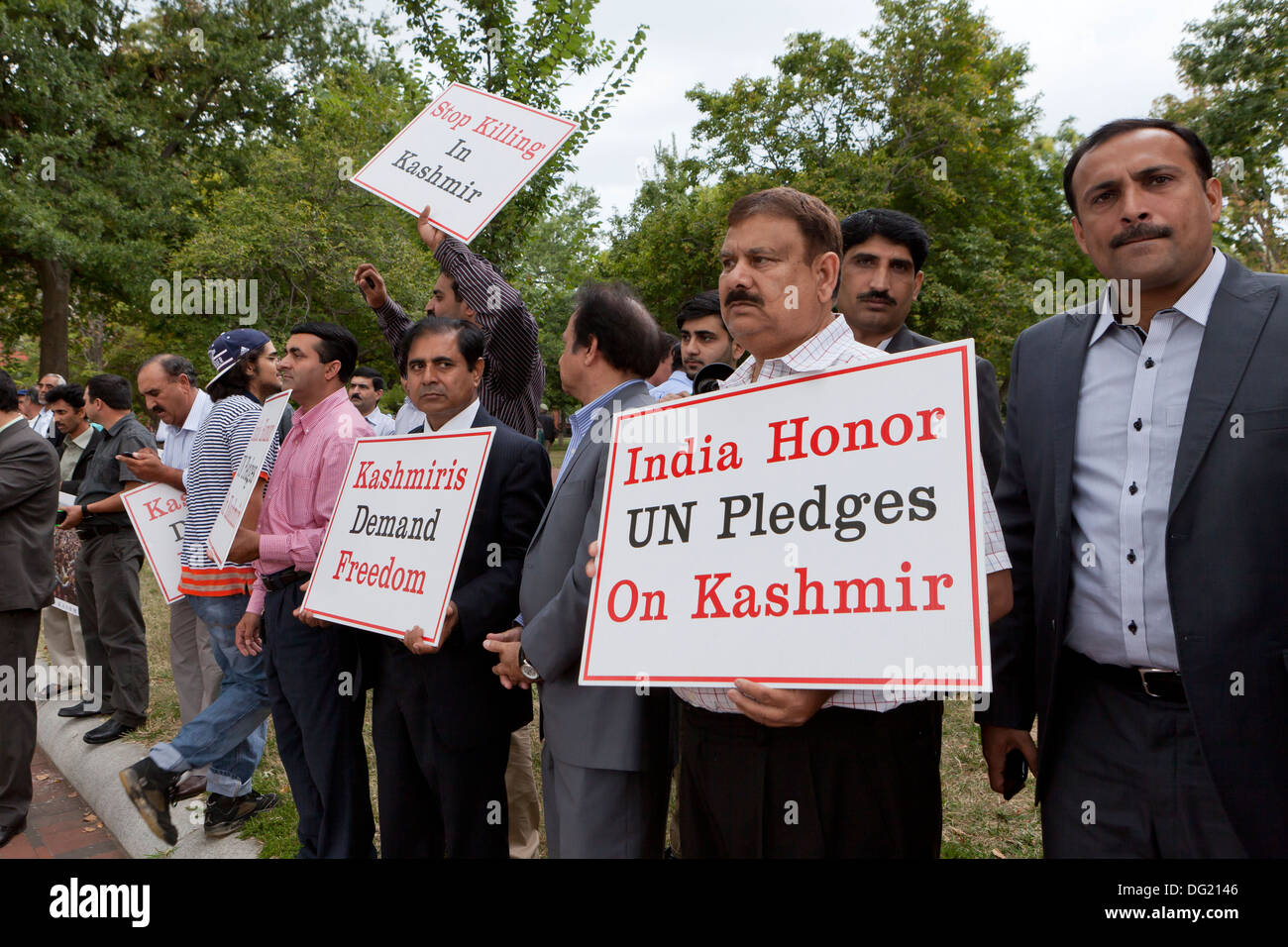 Kashmiri-Americans protest against Indian government - Washington, DC USA - Stock Image