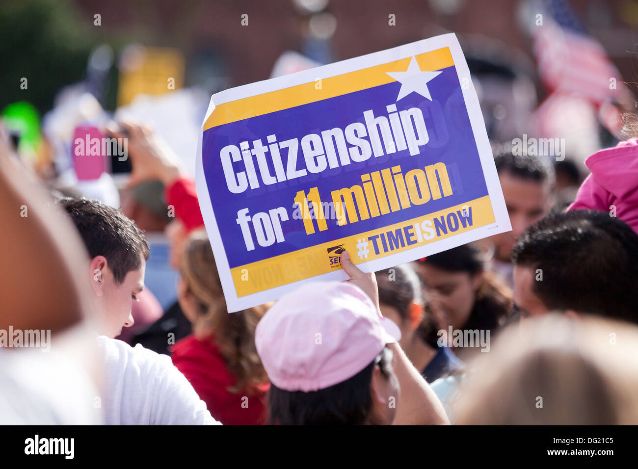 US Immigration Reform rally - Washington, DC USA - Stock Image