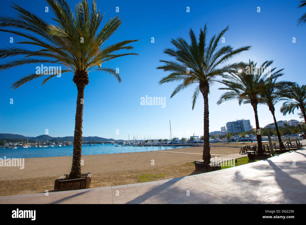 Ibiza San Antonio Abad De Portmany Beach In Balearic Islands Of Spain Stock Photo Alamy