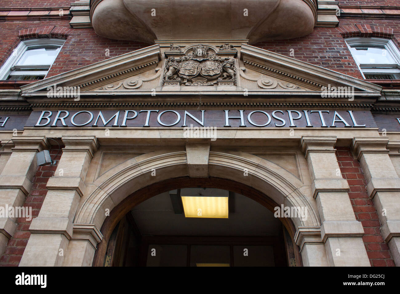 Brompton Hospital, entrance and sign - Stock Image