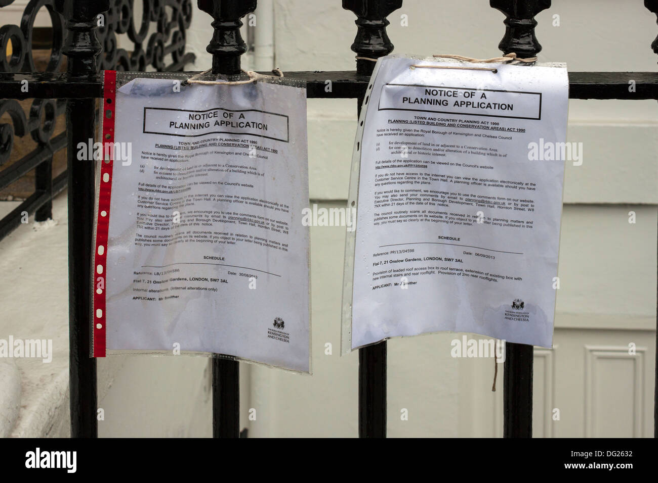 Notice of a Planning Application - Stock Image