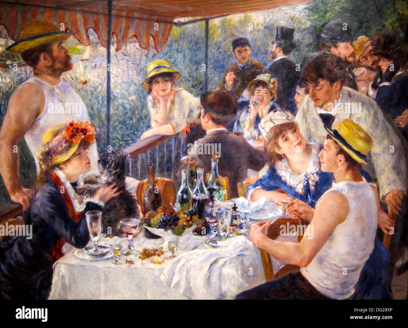 The Luncheon of the Boating Party by Renoir 1880 - Stock Image