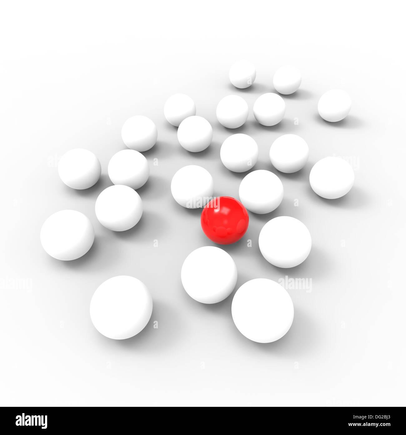 Concept for: stranger, spy, insider, leader, individual... - Stock Image