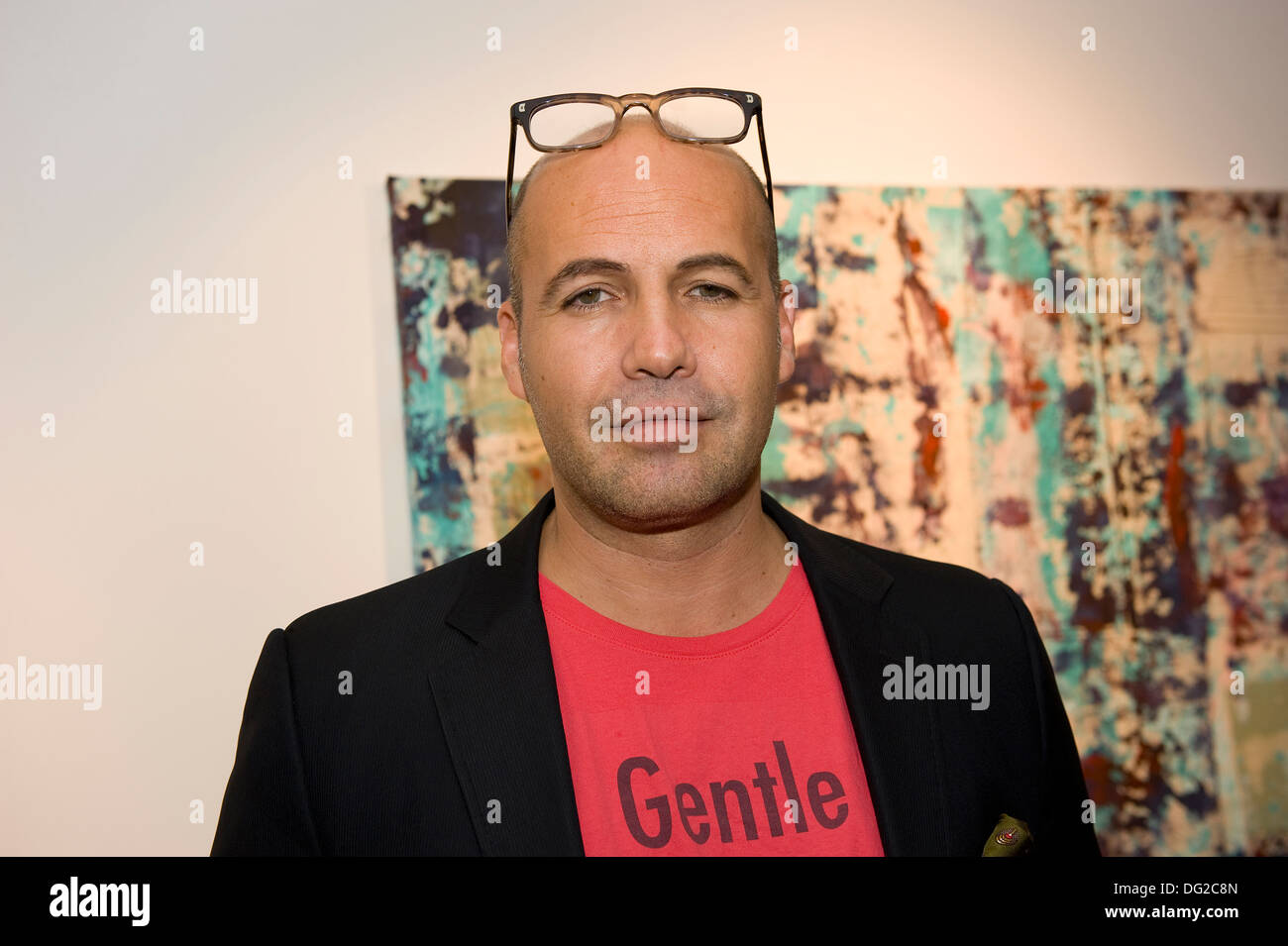 Billy Zane at his Seize the Day Bed exhibition at the Rook & Raven Gallery London England. - Stock Image
