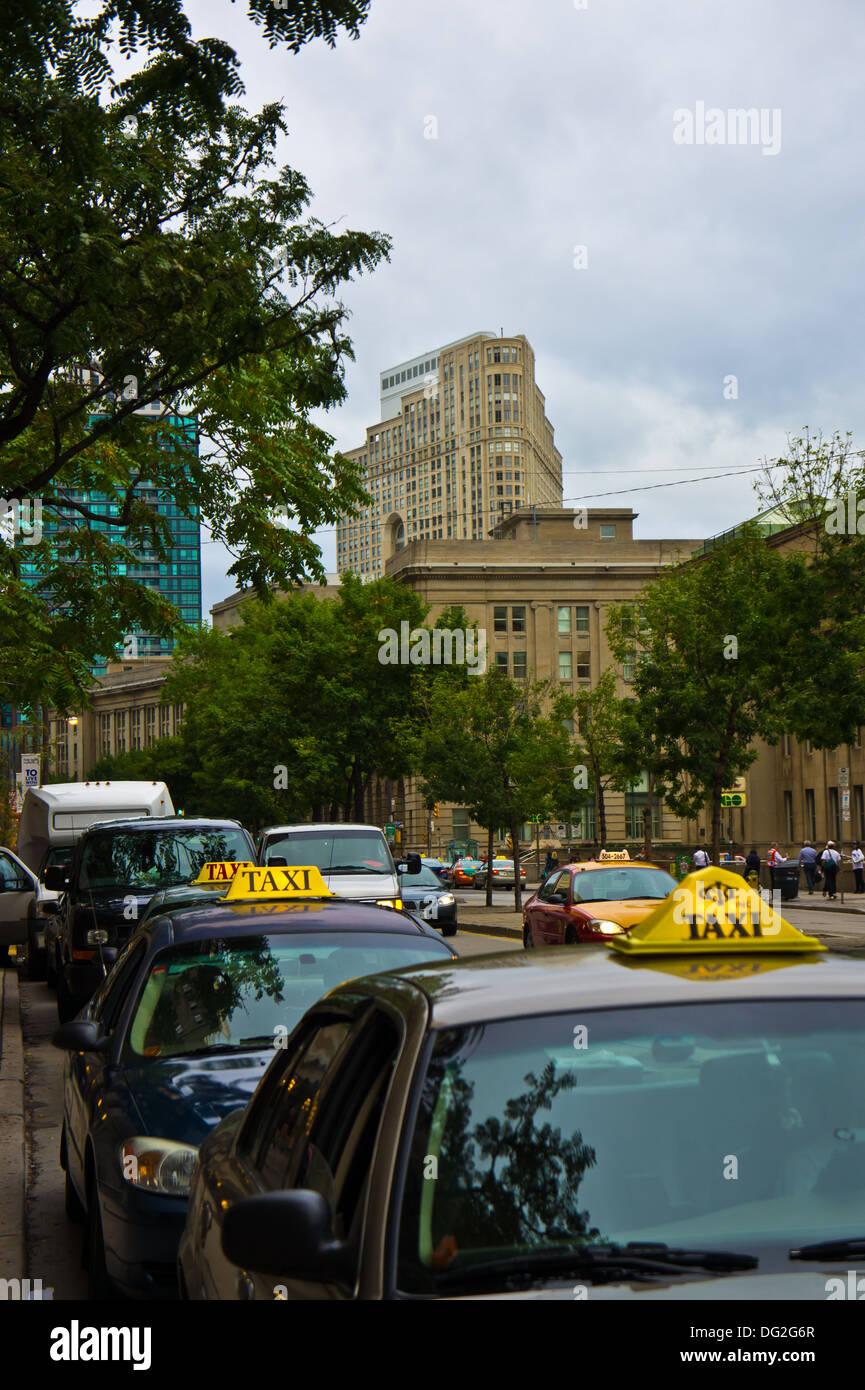 taxicabs toronto ontario - Stock Image