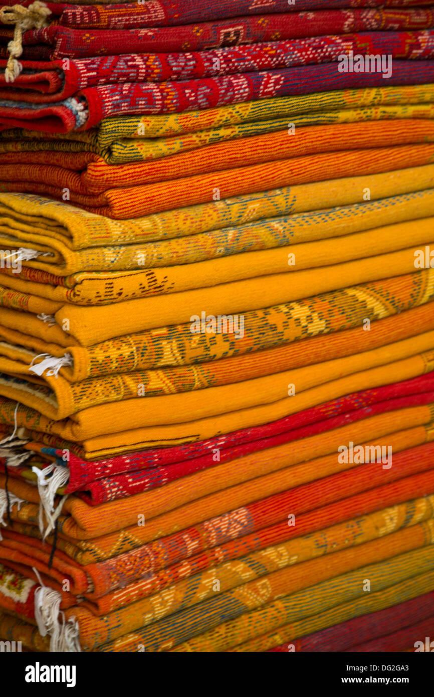 Carpets in Marrakesh - Stock Image