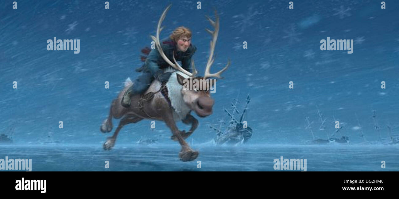 FROZEN  2013 Disney animation with the character Kai - Stock Image