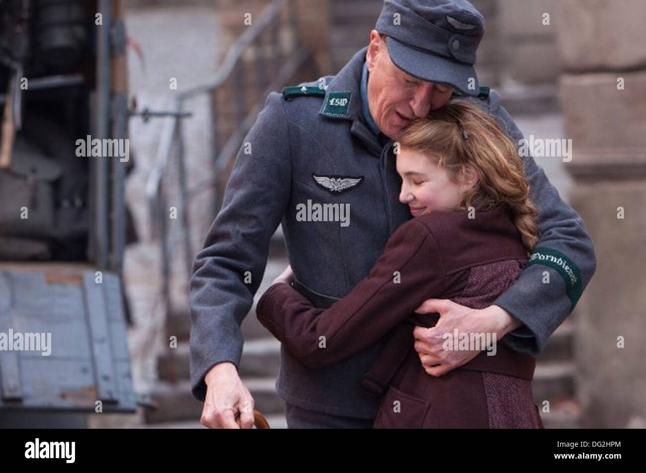 THE BOOK THIEF 2013 Twentieth Century Fox film with Geoffrey Rush and Sophie Nelisse - Stock Image