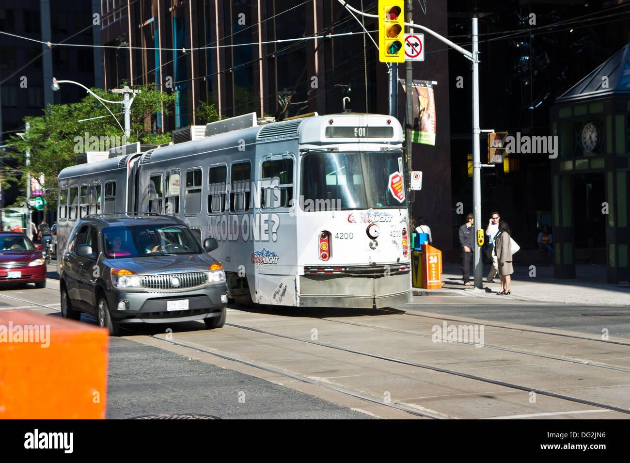 Toronto Ontario streetcars - Stock Image