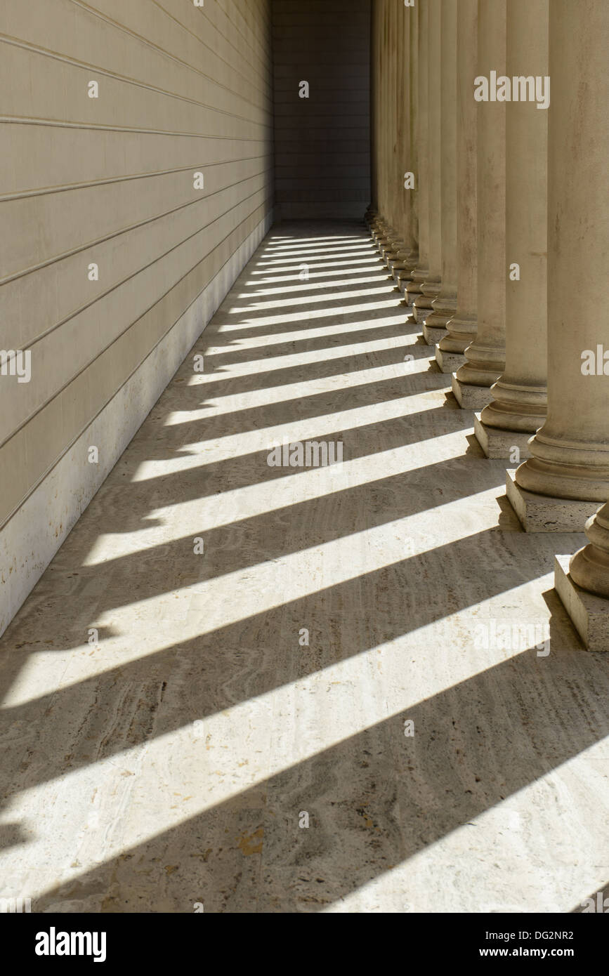 Pillars in a Row - Stock Image