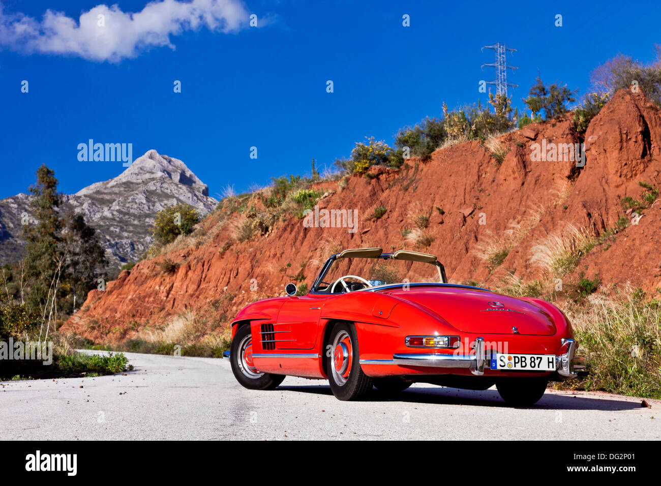 Mercedes 300 SL Roadster, 1961. - Stock Image