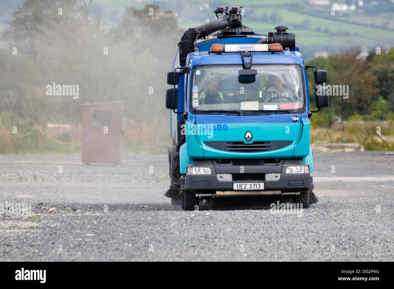 A Schmidt road sweeper on a Renault 240 7.5 tonne body - Stock Image