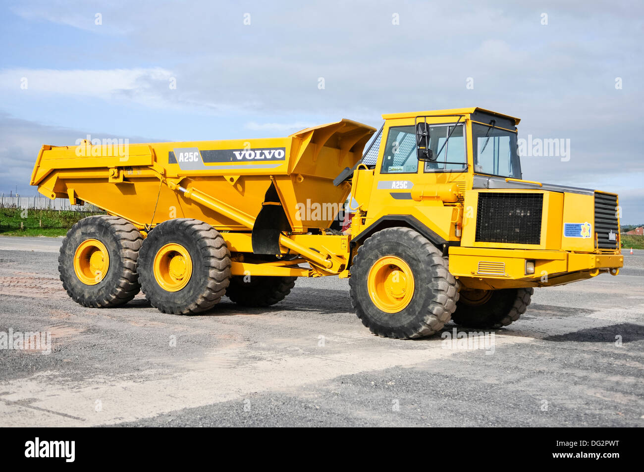 A Volvo A25C dumpster dump truck Stock Photo: 61527476 - Alamy