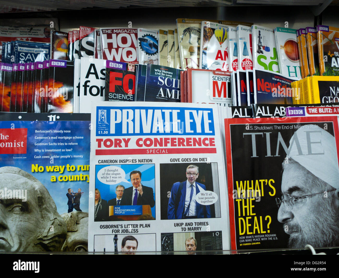 Private Eye Magazine Tory Conference issue - Stock Image